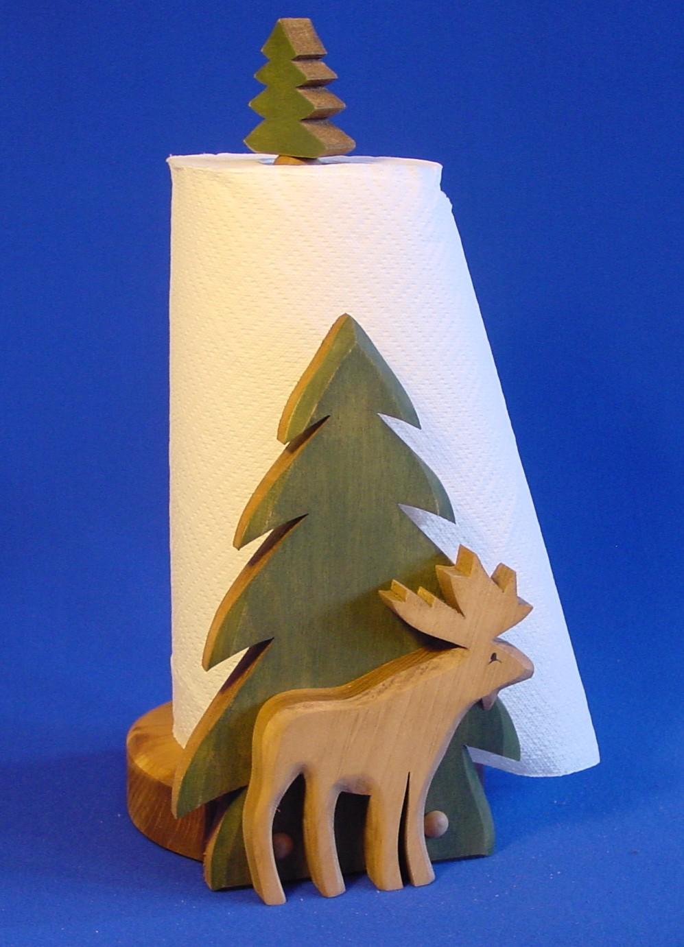 554- Paper Towel Holder-Moose